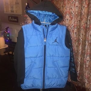 NWOT Boys Jordan Sz 5/6 Winter Jacket With Hood